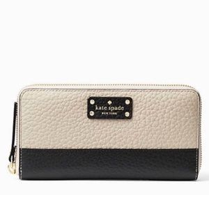 Kate Spade Bay Street Lacey Zip Leather Wallet NWT